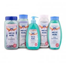 Sada kosmetiky Mrtvé moře, 5ks - šampon, gel, sůl, pěna, mýdlo