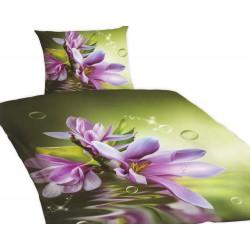 Povlečení Standard s 3D efektem, Magnolie, bavlna, 4 dílné, 140x200 70x90