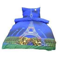 Povlečení Exklusiv, Paříž s 3D efektem, bavlna, 2 dílné, 140x200 70x90