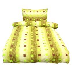 Povlečení Comfort+, zelená, bavlna, 2 dílné, 140x200 70x90
