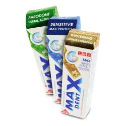 Sada zubních past MaxDent, 75ml, 3ks