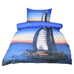 Povlečení Exklusiv, Dubaj s 3D efektem, bavlna, 2 dílné, 140x200 70x90