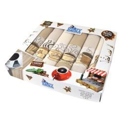 Kuchyňské utěrky v dárkovém balení, bavlna, 6ks, 50x70