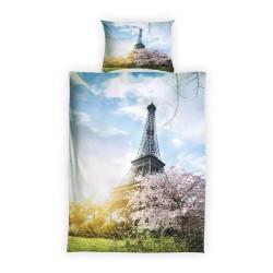 Povlečení Motiv Paříž s 3D efektem - 01, bavlna, 2 dílné, 140x200 70x90