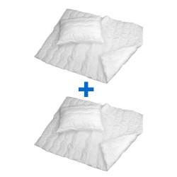 Prošívaná přikrývka s polštářem Comfort+, 140x200 70x90