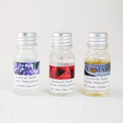 Vonný olej, 3ks, levandule, růže, vanilka, 10ml
