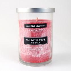 Vonná svíčka Essential Elements, Sněžná růže a cedr, 283g