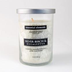 Vonná svíčka Essential Elements, ojíněná borovice, 283g