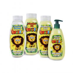 Sada Dětské kosmetiky Lvíček, 4ks, šampon 500ml, gel 500ml, pěna 500ml, mýdlo 50ml