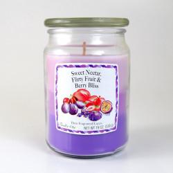 Vonná svíčka, Sladký nektar - šťavnaté ovoce - lesní plody, třívrstvá, 538g