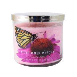 Vonná svíčka AULX, Divoké luční květy, tříknotová, 396g