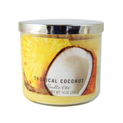 Vonná svíčka AULX, Kokosový ořech s ananasem, tříknotová, 396g