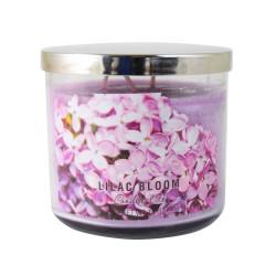 Vonná svíčka AULX, Květy šeříku, tříknotová, 396g