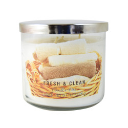 Vonná svíčka AULX, Svěžest a čistota, tříknotová, 396g