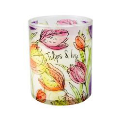 Vonná svíčka, Bloom, Tulipány a břečťan, 453g