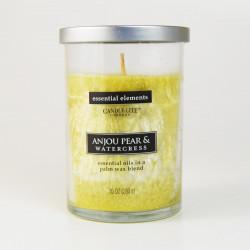 Vonná svíčka Essential Elements, Francouzská hruška a řeřicha, 283g