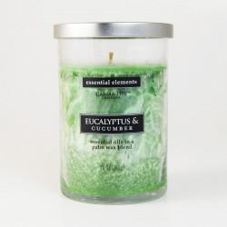 Vonná svíčka Essential Elements, Eukalyptus a okurka, 283g