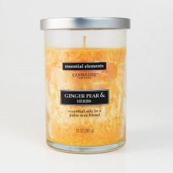 Vonná svíčka Essential Elements, Zázvor s hruškou a bylinky, 283g