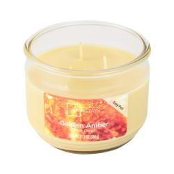 Vonná svíčka, Zlatavý jantar, tříknotová, 326g
