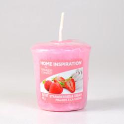 Votivní svíčka, Strawberries and Cream, 49g