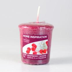 Votivní svíčka, Raspberry Sundae, 49g