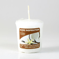 Votivní svíčka, Creamy Vanilla Coconut, 49g