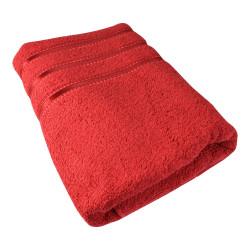 Osuška Montána, bavlna, froté, 550g, červená, 70x140cm