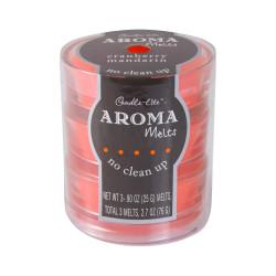 Vonný vosk ve skle, Brusinky s mandarinkou, 3x 25g