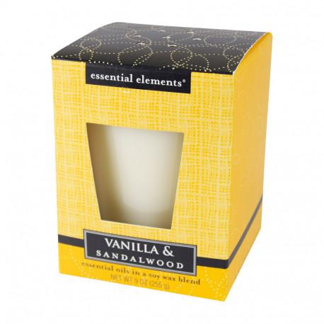 Vonná sojová svíčka, Vanilka a santalové dřevo, 255g