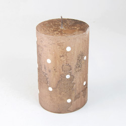 Vonná svíčka, Válec, puntík, hnědá, 300g