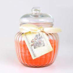 Vonná svíčka, Pomeranč v čokoládě, karafa, 500g