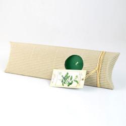 Čajové svíčky v dárkovém balení, Zelený čaj, 5ks
