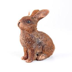 Svíčka, Zajíc sedící, hnědá, 80g