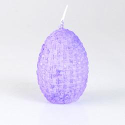 Svíčka, Vejce proutěné, fialová, 50g