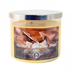 Vonná svíčka, Vanilka a santalové dřevo, tříknotová, 396g