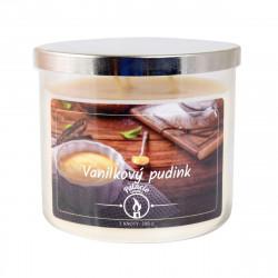 Vonná svíčka, Vanilkový pudink, tříknotová, 396g