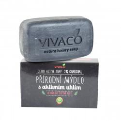 Přírodní mýdlo s aktivním uhlím, 100g