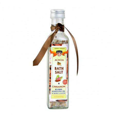 Akátová sůl do koupele s skořicí, 260g