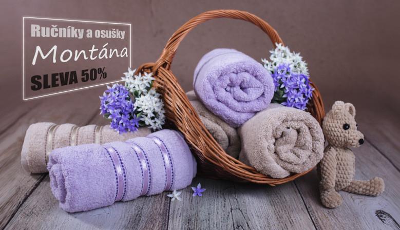 bavlněné ručníky a osušky Montána