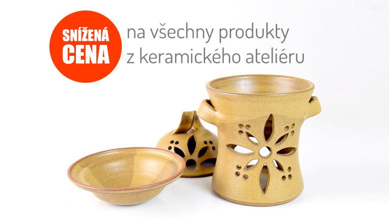 Snížená cena na všechny produkty z keramického ateliéru