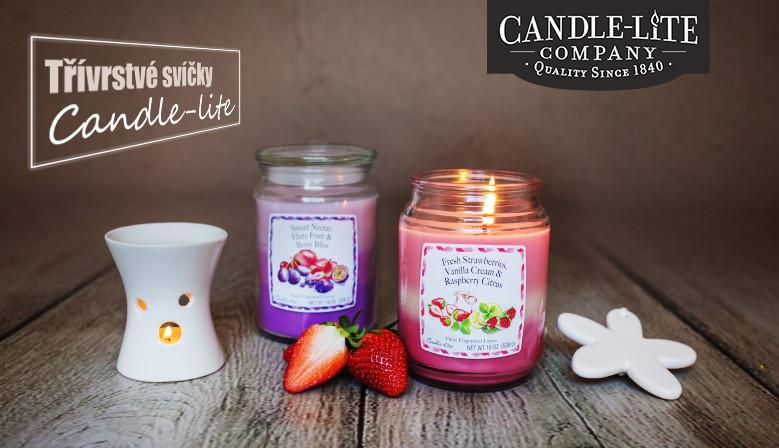 třívrstvé svíčky Candle-lite
